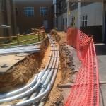 Conduit Runs into LEDU Building